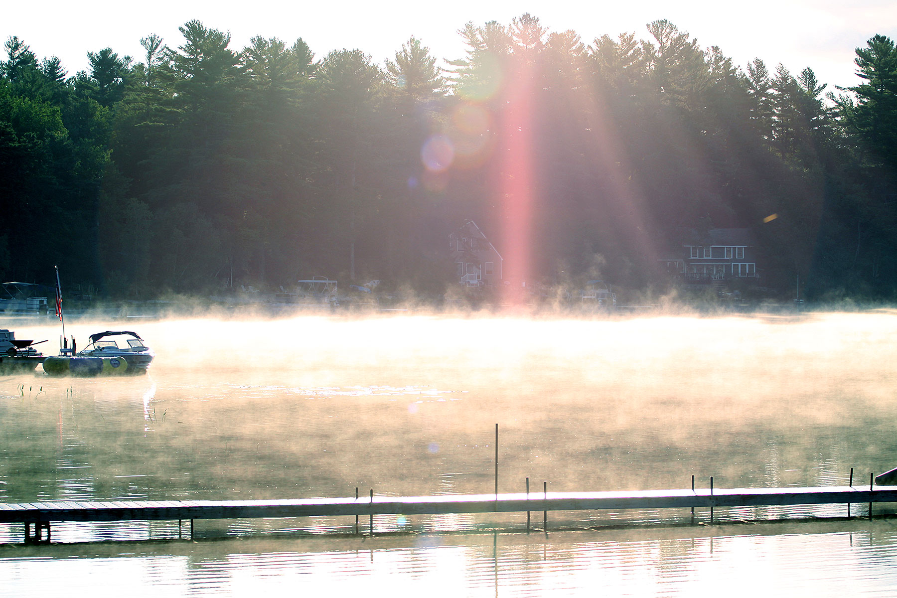 bonny eagle pond maine fog