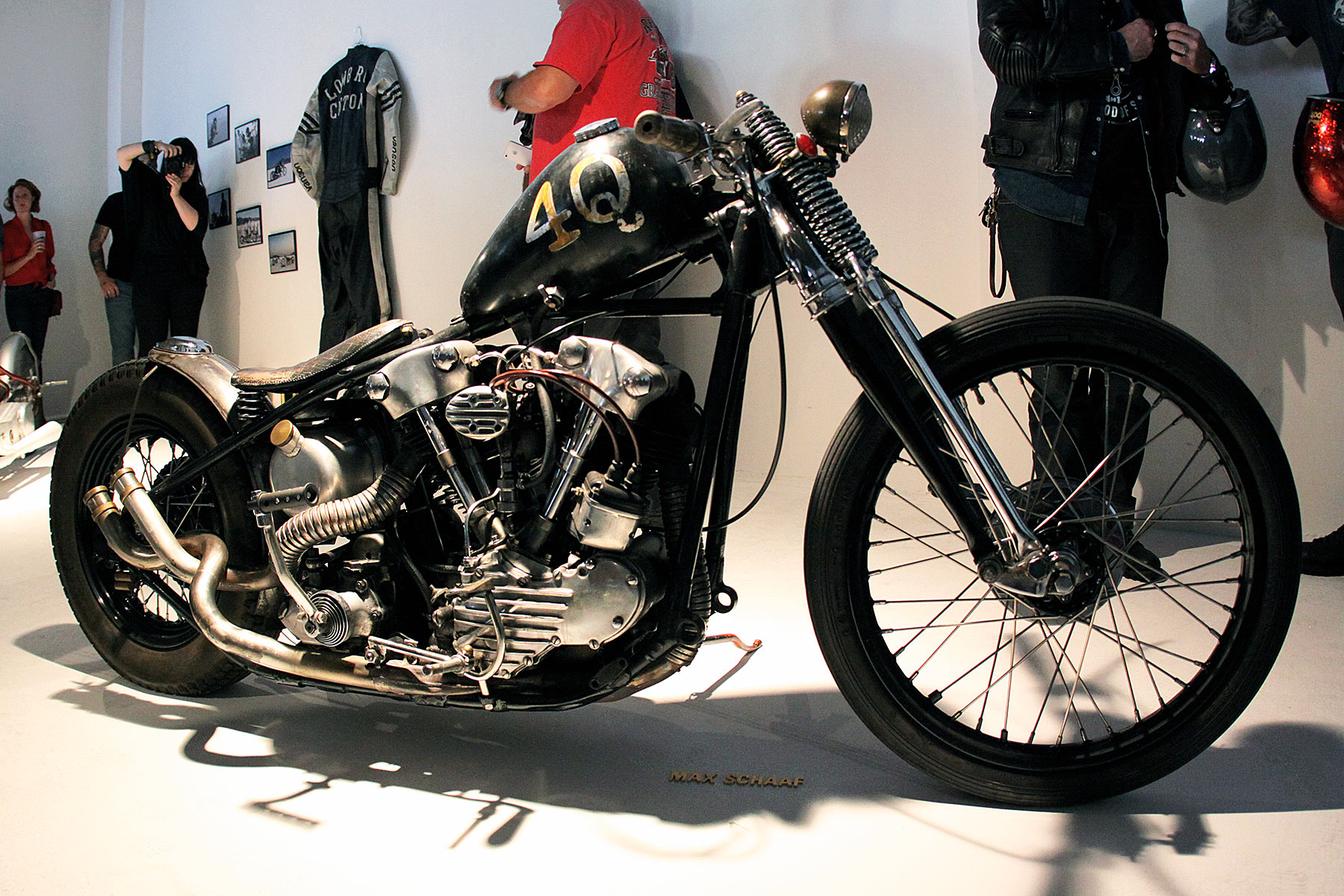 max schaaf's motorcycle at the brooklyn invitational